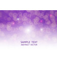purple bokeh abstract background with copy space vector image