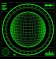 radar screen digital globe vector image vector image