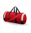 red sport bag for sportswear and equipment icon vector image vector image