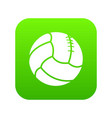 retro volleyball icon green vector image