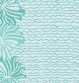 Sea waves and flowers vector image