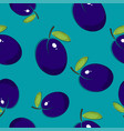seamless pattern plum on azure background vector image vector image