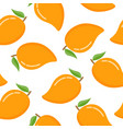 seamless pattern with mango on a white background vector image vector image