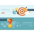 set Flat business concept vector image