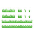 set ioslated green grass vector image