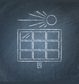 solar panel sketch on chalkboard vector image vector image