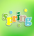 Spring colored background with the words vector image vector image