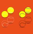 tennis ball - set vector image