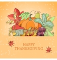 Thanksgiving holiday card vector image vector image