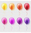 transparent isolated realistic colorful glossy vector image vector image