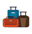 travel luggage concept vector image vector image