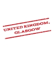 United Kingdom Glasgow Watermark Stamp vector image vector image