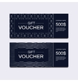 Voucher cards vector image