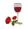 wine cup with rose vector image