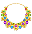 womans necklace with precious stones vector image
