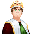 Young King With Crown Shoulders Up vector image