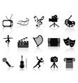 art concept icons set vector image