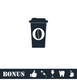 Coffee to go icon flat vector image