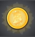 coin of virtual currency bitcoin icon of golden vector image