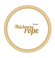 Thickness Rope Frames or Borders Circle vector image