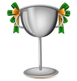 A gray cup with ribbons vector image vector image