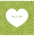 abstract green natural texture heart vector image vector image