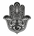 amulet hamsa hand vector image vector image