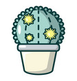 astrophytum cactus icon cartoon style vector image vector image
