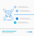 badge emblem game shield swords infographics vector image