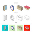 bedroom and room icon set vector image vector image