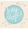 Beige christmas background with christmas blue vector image vector image