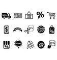 black discount icons set vector image