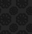 Black textured plastic flowers with rim vector image vector image