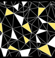 black yellow network web texture seamless pattern vector image vector image