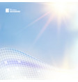 blue sky for science theme vector image