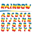Bright Rainbow letters vector image vector image