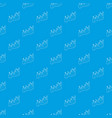 business graph pattern seamless blue vector image