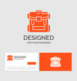 business logo template for bag camping zipper vector image