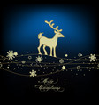 christmas deer and cute golden decorations vector image vector image