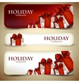Christmas Ribbon Banners vector image vector image