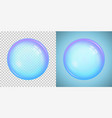 colorful soap bubble with transparency vector image vector image