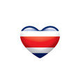 costa rica flag on a white vector image vector image