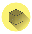 Cube with projection icon vector image