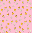 easter chicken pattern vector image