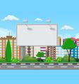 empty urban big board vector image vector image