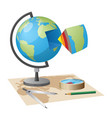 equipment for geographical researches vector image vector image