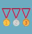 flat style medallions icon set vector image vector image