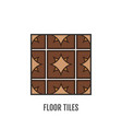 floor tiles flat icon object vector image vector image