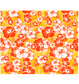 Floral seamless Hawaiian background with hibiscus vector image vector image