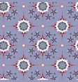 flowerly geometric rosettes in pastel purples vector image vector image